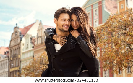 Happy loving couple - stock photo