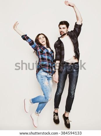Happy loving couple - stock photo