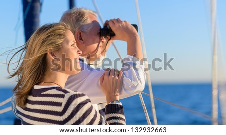 Happy Mature Couple On Vacation - stock photo
