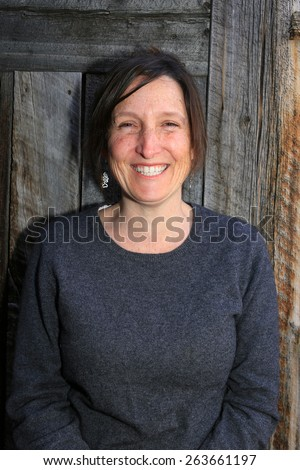 Happy middle aged woman. - stock photo