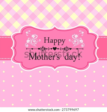 Happy Mother's Day! Greeting card.  Illustration - stock photo