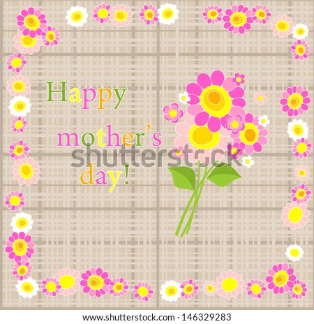 Happy Mother's Day! Raster copy of vector image - stock photo