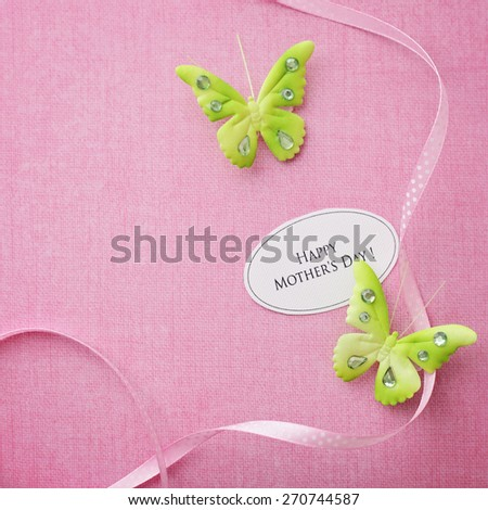 happy mothers day paper background - stock photo