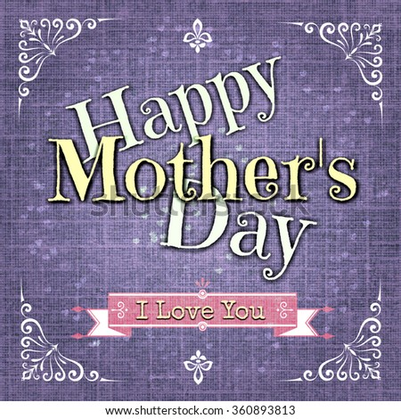 Happy Mothersday greeting card  - stock photo