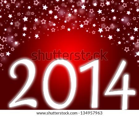 happy new year 2014 - stock photo