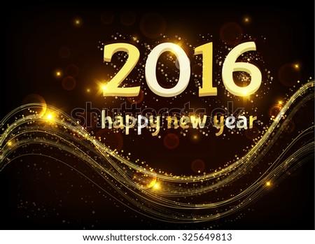 Happy new year. 2016. - stock photo