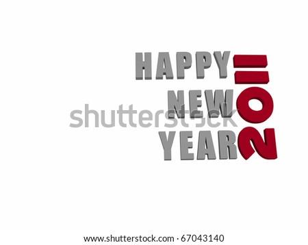 happy new year 2011 - stock photo