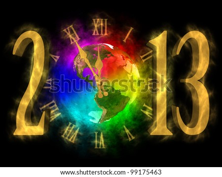 Happy new year 2013 - America - stock photo