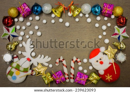 Happy new year and merry christmas background - stock photo
