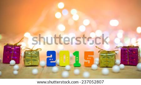 Happy new year background - stock photo