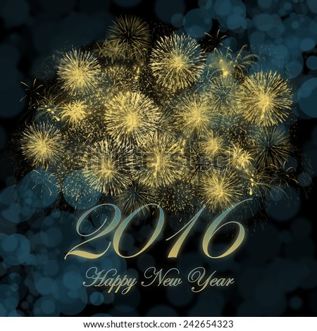 Happy New Year 2016 background image. - stock photo