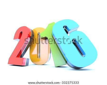 Happy New Year 2016 calendar background - stock photo
