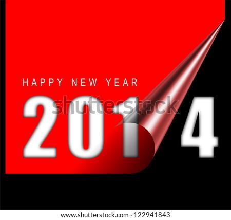 Happy new year card - stock photo