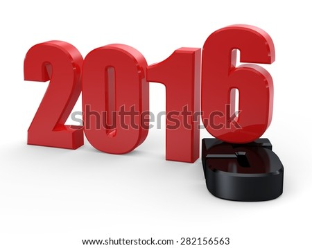 Happy new year 2016... 2015-2016 change represents the new year 2016. 3d 2016 - stock photo