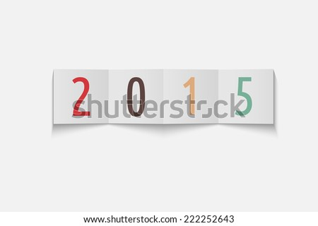 happy new year 2015 concept with paper tags - stock photo
