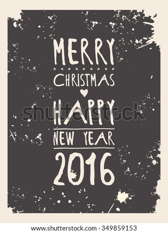 Happy new year greeting card. Raster version - stock photo