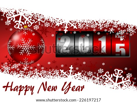 happy new year 2015 illustration with counter - stock photo