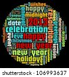 Happy New Year in word collage - stock photo