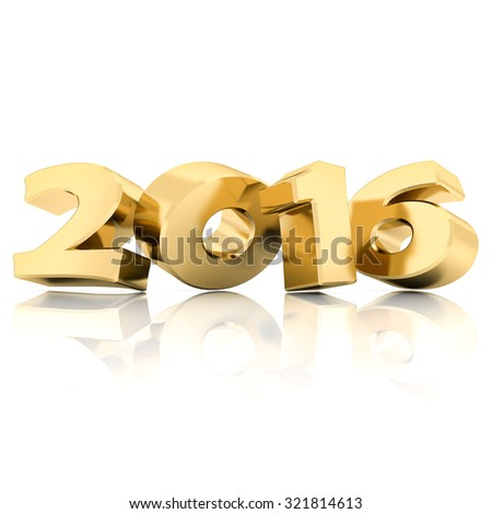 Happy new year 2016 isolated on a white background - stock photo