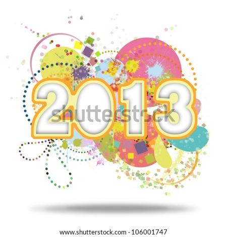 Happy new year 2013 ,new year card - stock photo