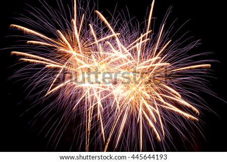 Happy New Year! New Year celebration fireworks. Fireworks over the night city - stock photo