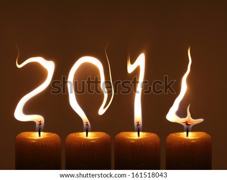Happy new year 2014, PF 2014 - stock photo