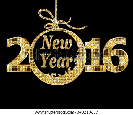 Happy New Year. Raster version  - stock photo