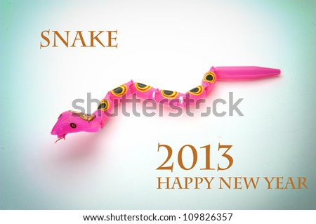 Happy new year 2013,year of the snake - stock photo