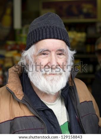 happy old man portrait - stock photo