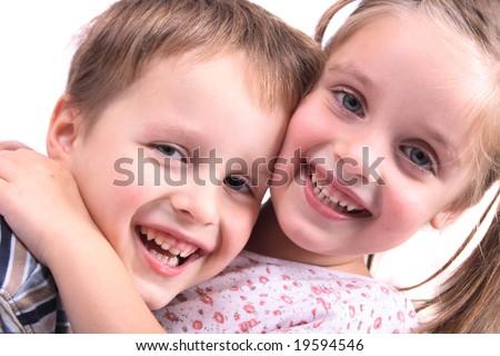happy pair - stock photo