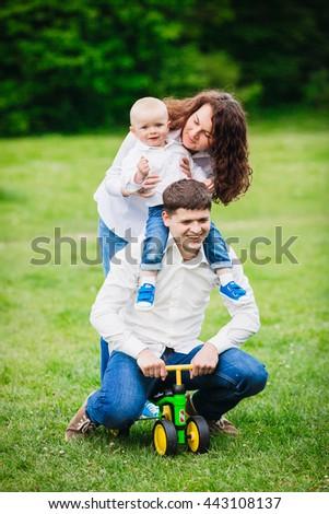 Happy parenthood - stock photo