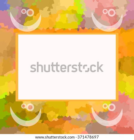 Happy photo frame - stock photo