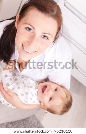 happy playing family portrait - stock photo