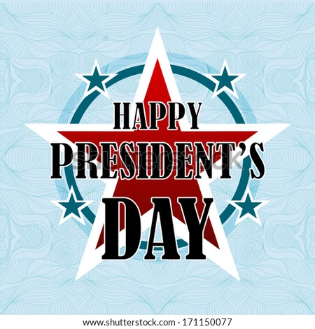 Happy Presidents Day American Background - stock photo