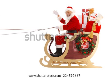 Happy Santa Claus in Christmas - stock photo