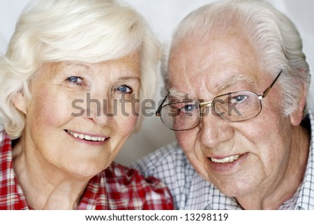 Happy senior couple portrait - stock photo