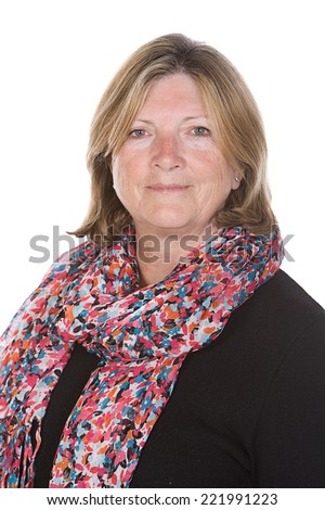 Happy Senior Lady - stock photo