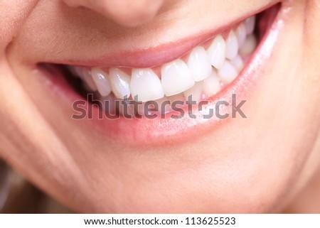 Happy senior woman smile. Dental health. - stock photo
