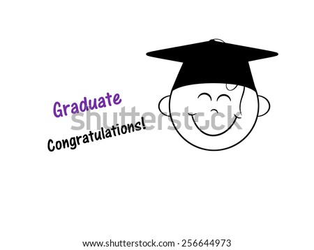 Happy Smile - Graduate - stock photo