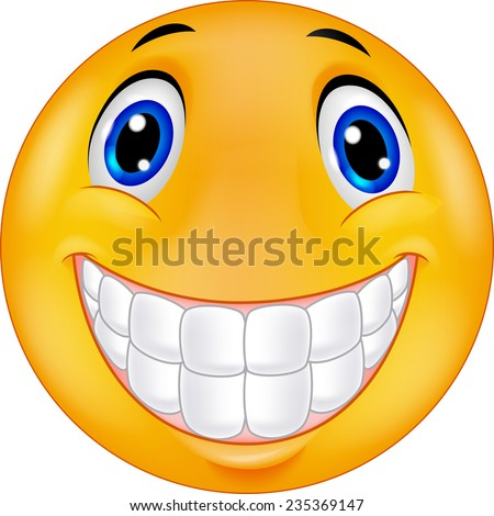 Happy smiley face stock photo