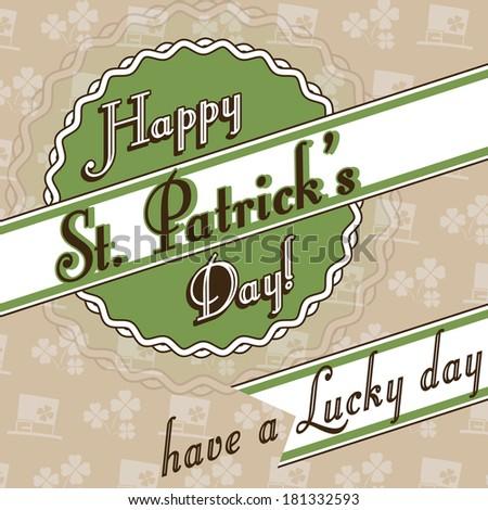 Happy St. Patrick's Day card - stock photo