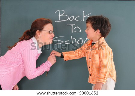 Happy teaching and studying. - stock photo