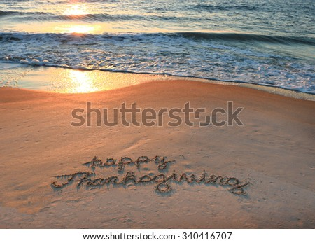 Happy Thanksgiving - stock photo