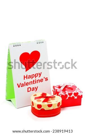 Happy valentine's day, Isolated on white. - stock photo