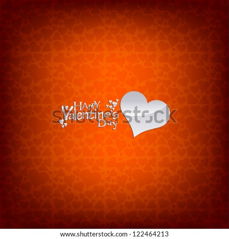 Happy Valentine's Day Lettering - stock photo