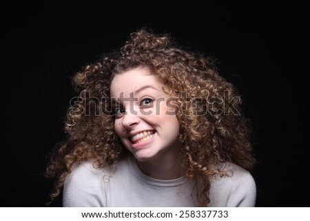 Happy woman - stock photo