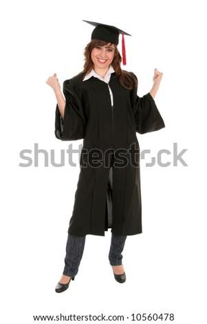 Happy Woman at Graduation - stock photo
