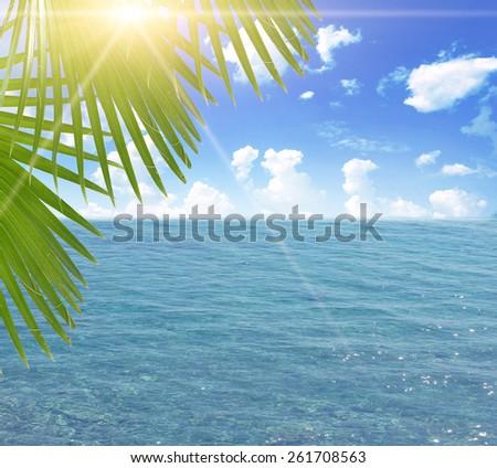 Happy woman enjoying beach relaxing - stock photo