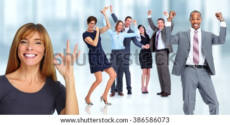 Happy woman portrait. - stock photo