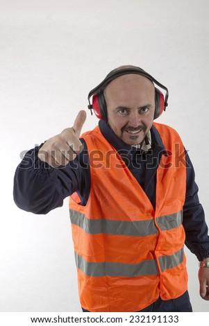 happy worker - stock photo